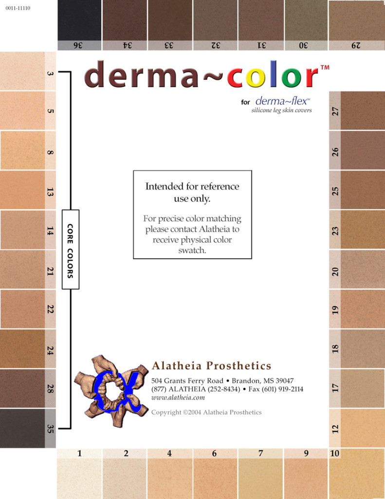 DermaFlex Color Swatch